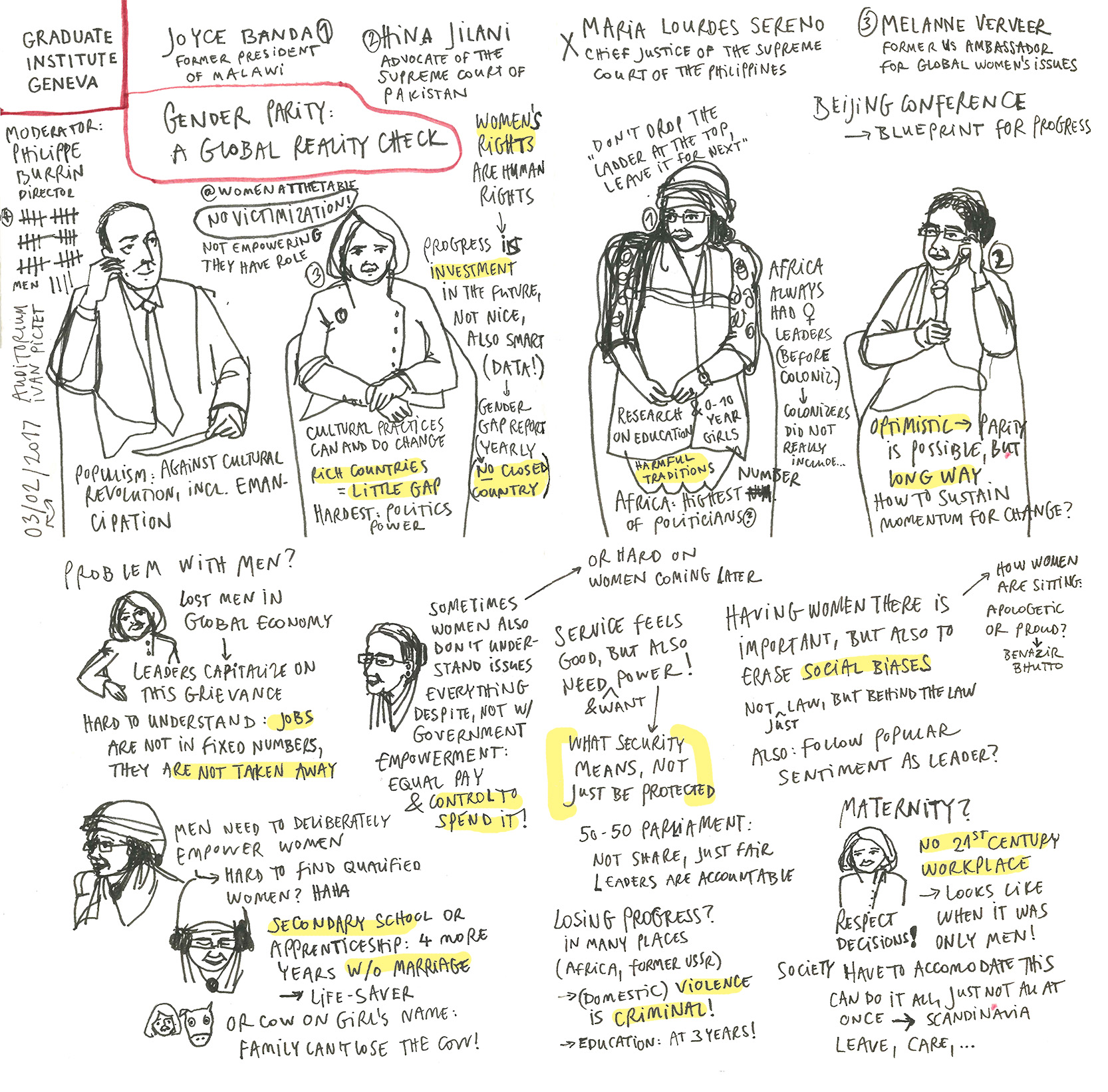 Sketchnotes of UN lecture