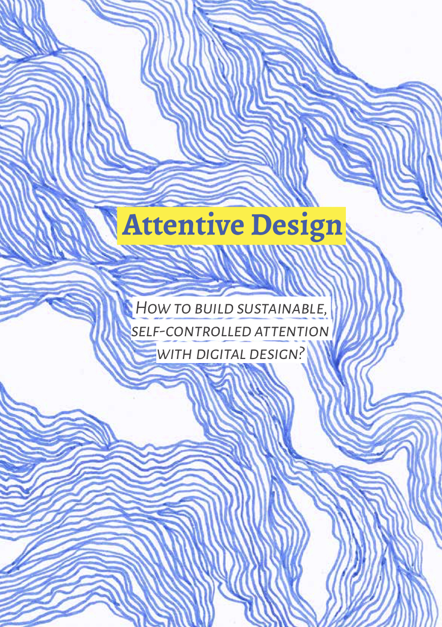 attentive design thesis book cover with flow pattern