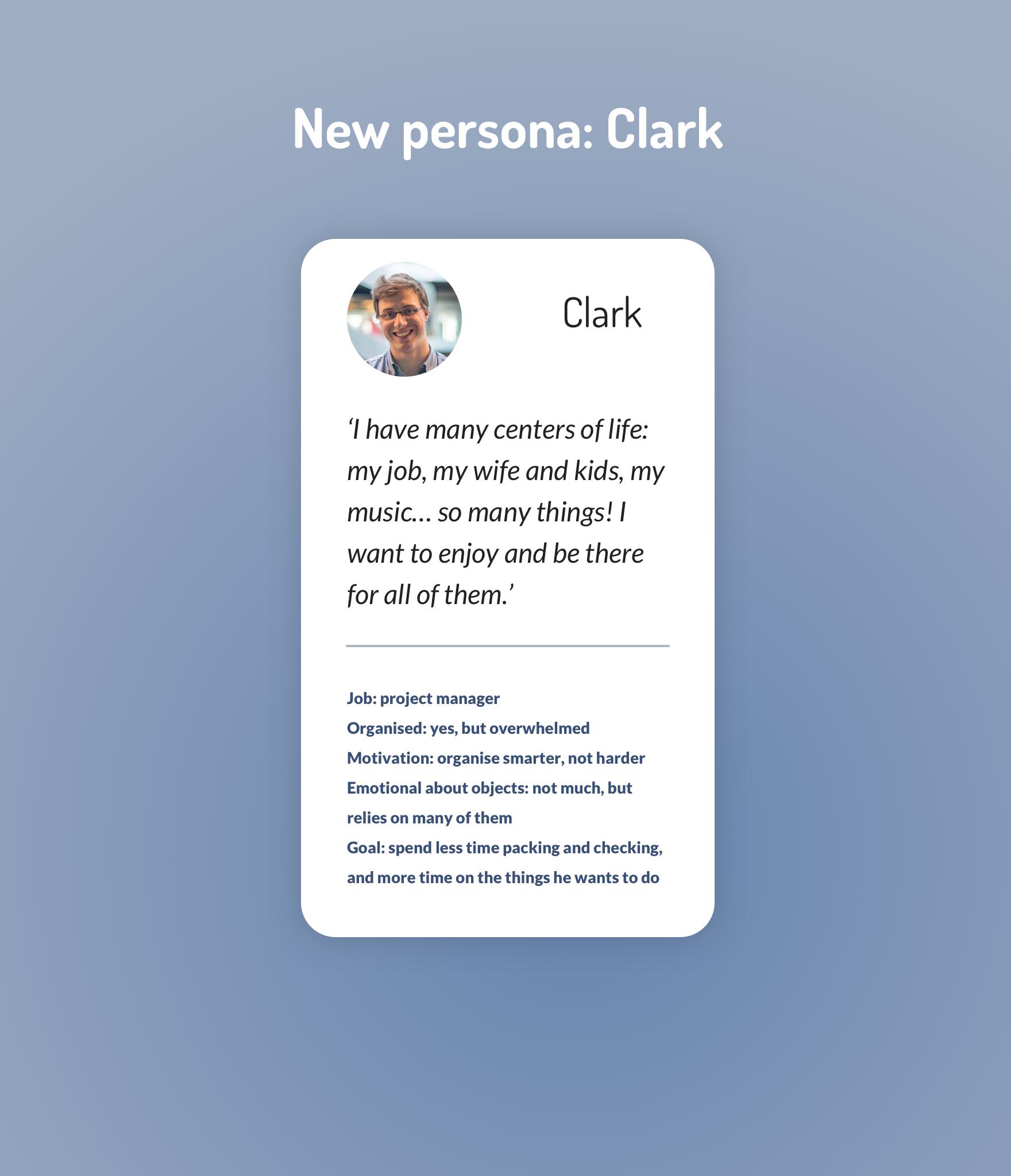 new persona Clark