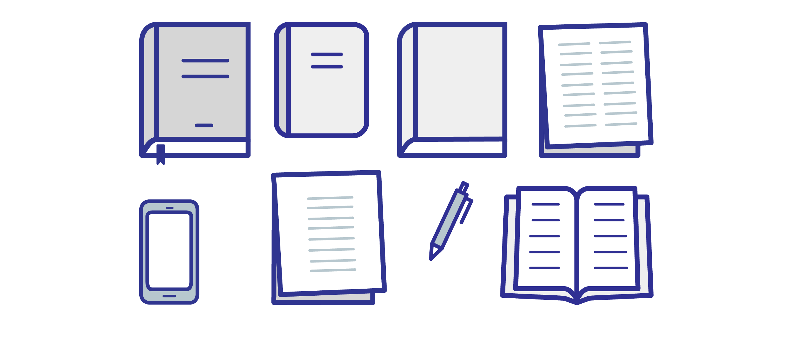icon set - illustration of books